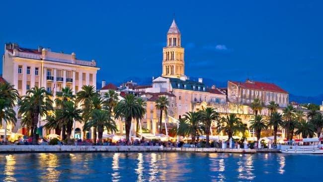 Вечерний город Сплит
