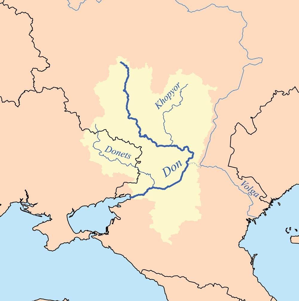 Река Дон на карте