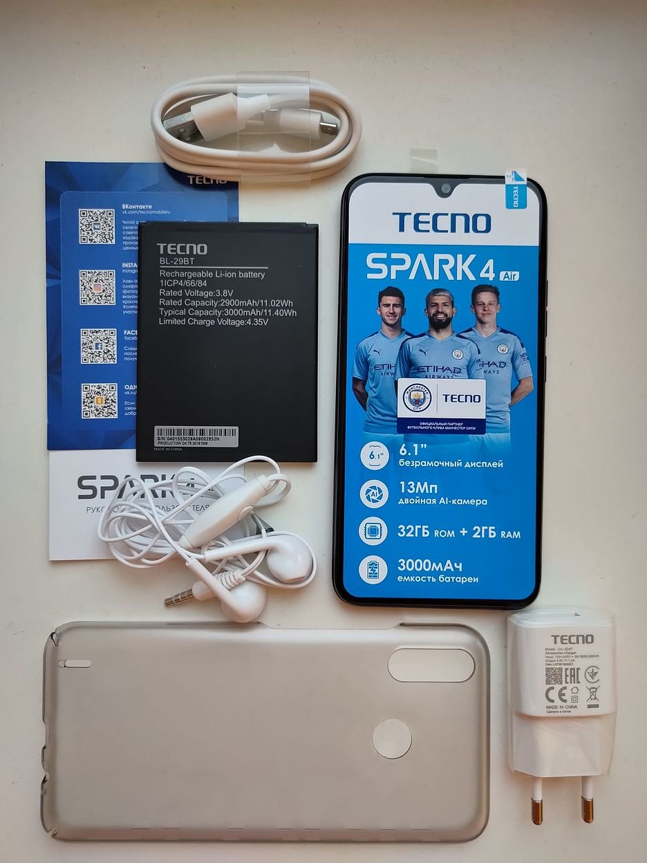 Tecno Spark 4 Air: ломаем стереотипы