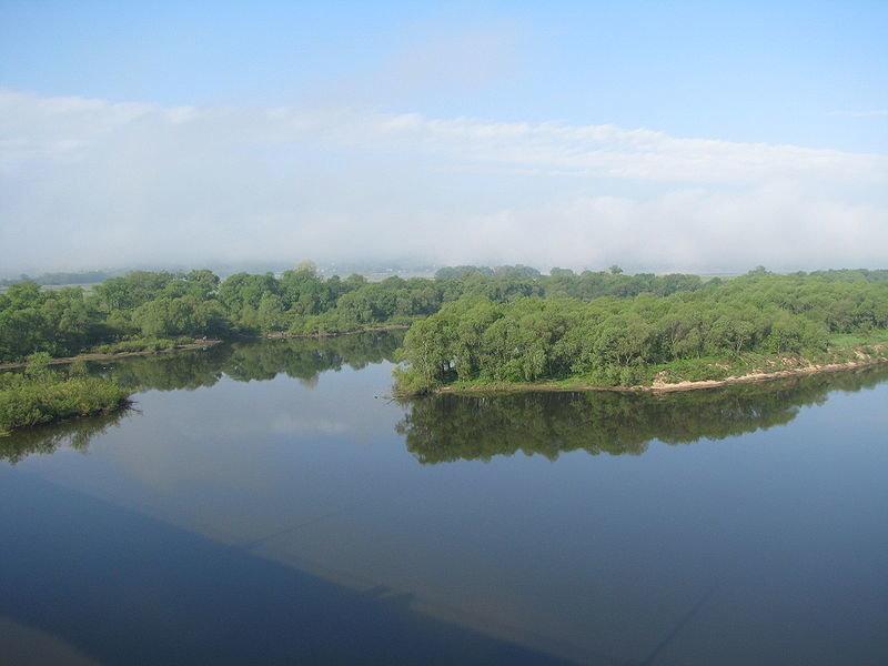 Река Ока в районе Серпухова