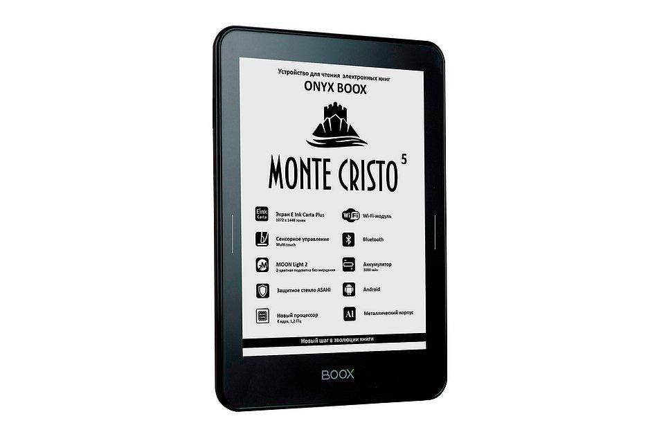 Стартовали продажи букридера Onyx Boox Monte Cristo 5