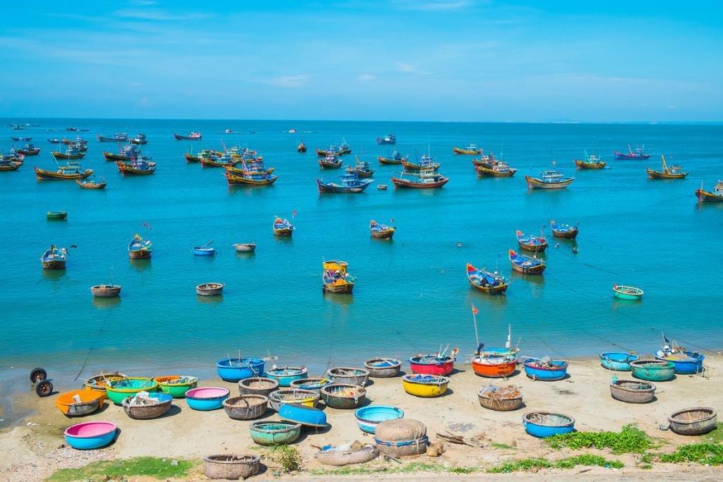 Вьетнамские лодочки в Муйне