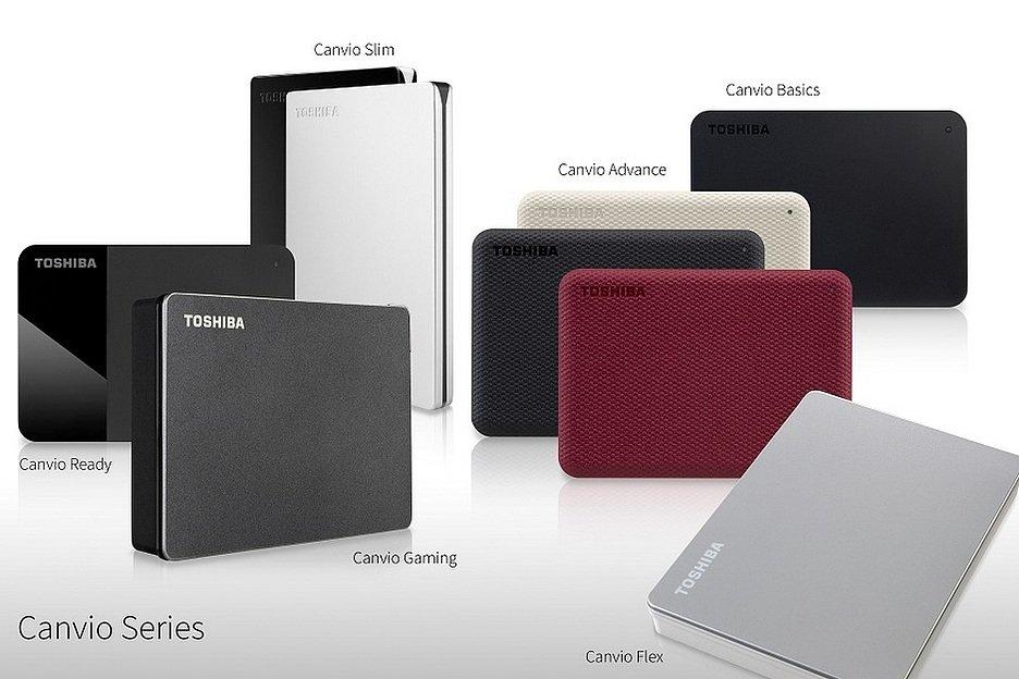 Toshiba расширила линейку портативных накопителей