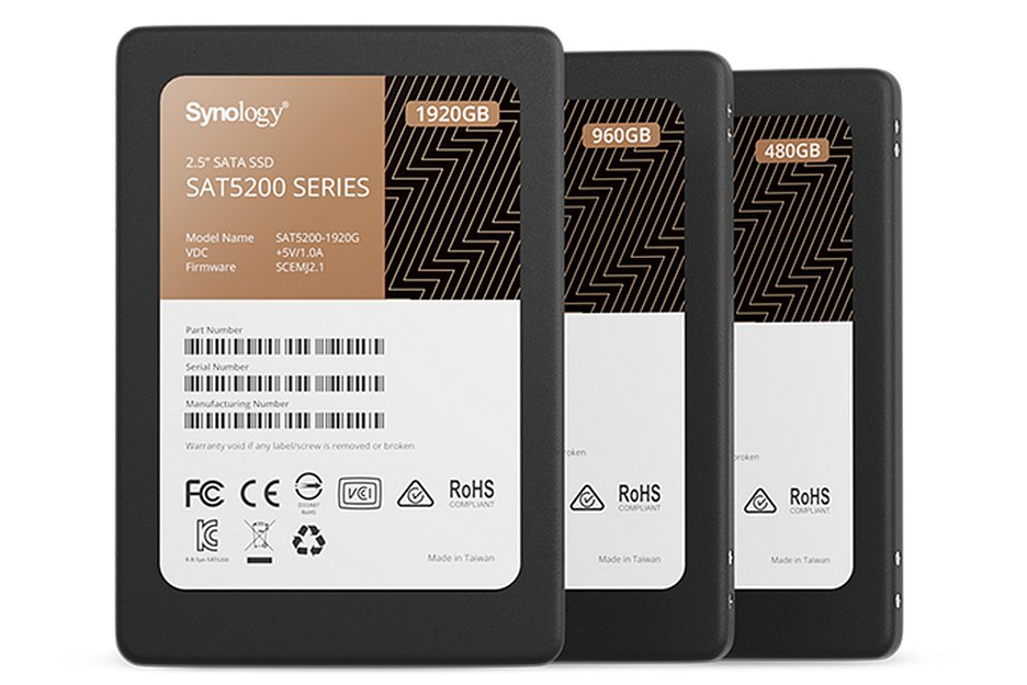 Synology выпустила 2,5 дюймовый SSD на 3,84 ТБ