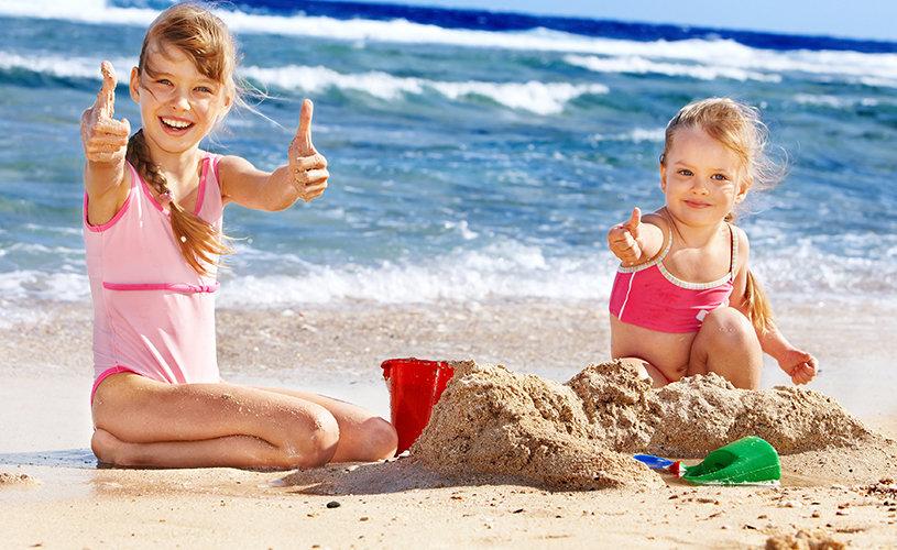 Отдых с детьми на пляже