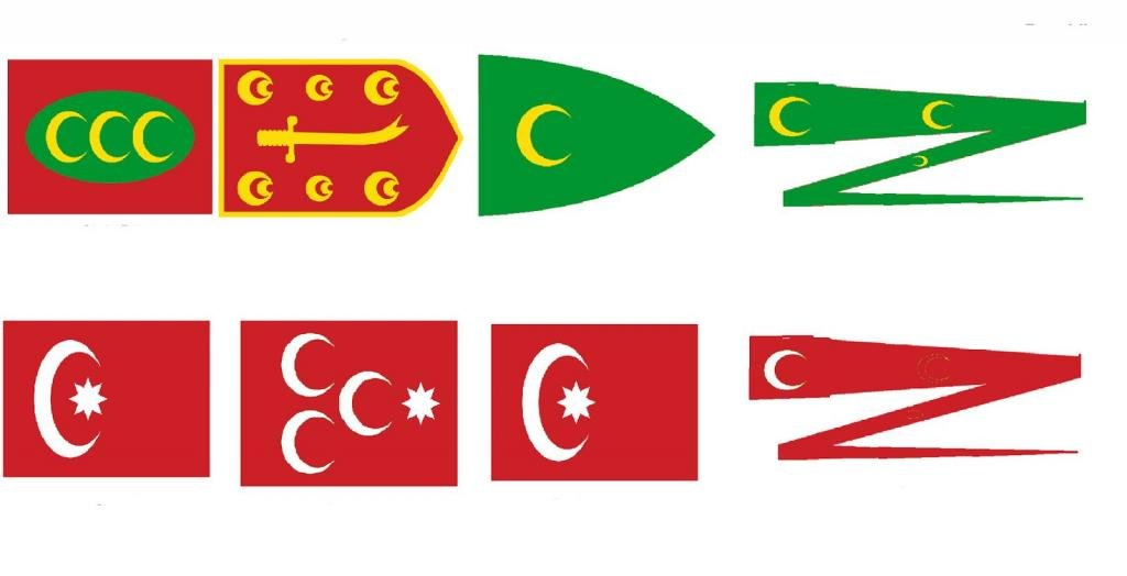 флаги и вымпелы монархии и республики