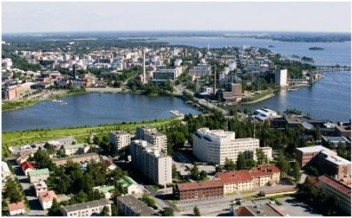 Город Вааса в Финляндии