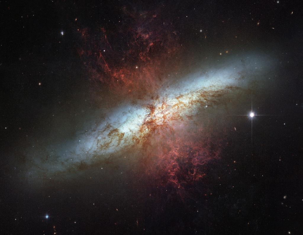 Галактика сбоку