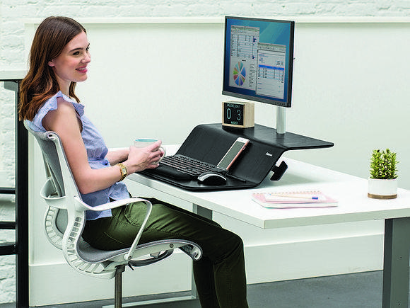 Fellowes Lotus Sit-Stand RT Workstation: хоть стой, хоть падай,  но к столу прикрути!